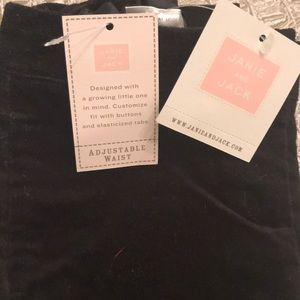 Janie and jack black pants. New with tags
